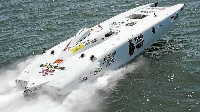 Mackay's Team Navy won the final race of the Australian Superboats championship at Hervey Bay.