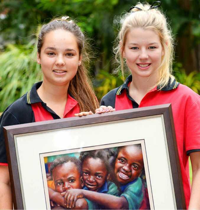 OVERSEAS EFFORT: Rockhampton Grammar School's Alexandra Barlow and Rielly Stokes.