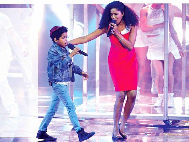 FAMILY AFFAIR: Australia's Got Talent finalist Dean Brady, 10, performs with his mum Trevelyn.