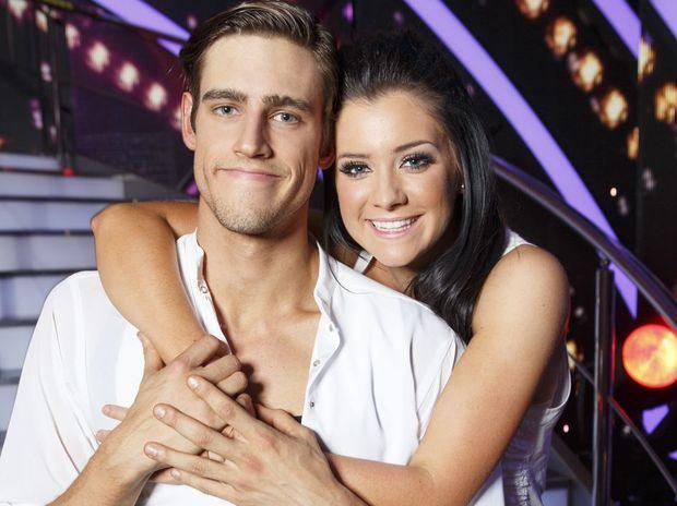 Zac Stenmark and injured dance partner Jade Hatcher.