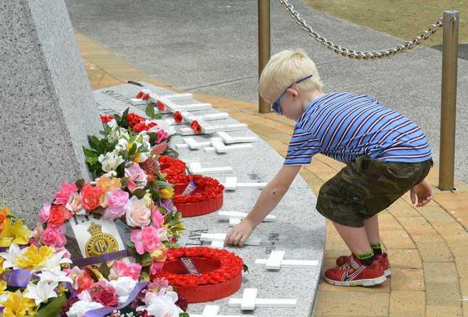 Remembrance Day at Kawana Waters 2013.