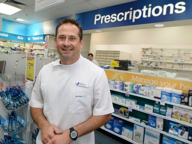Terry White Pharmacy's Brendon Reck has won a national pharmacist leadership award. Photo: Chris Ison / The Morning Bulletin