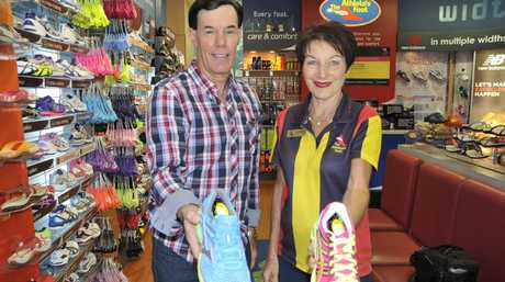 Doug Muir and Lorraine Halpin, owners of The Athletes Foot in Grand Central