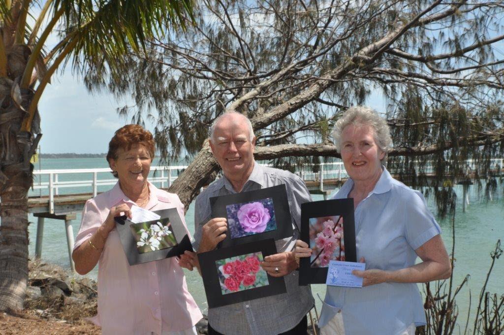 Camera club competition winners Jennie Nicholls, John Wodhams and Diana Green.