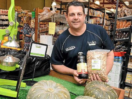 GUY WITH A GONG: Greig Shanley of Fundies Whole Food Market (Go Vita Lismore).