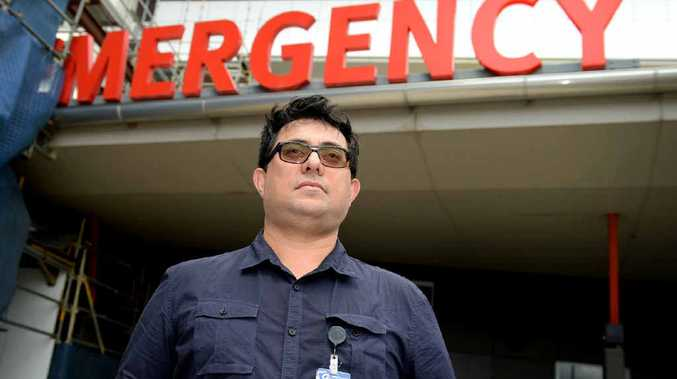 PROUD MOMENT: Dr Enasio Morris at Rockhampton Hospital's Emergency Department.