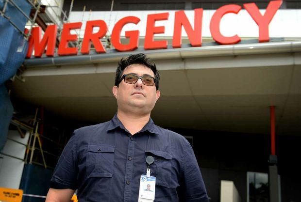 PROUD MOMENT: Dr Enasio Morris at Rockhampton Hospital's Emergency Department.