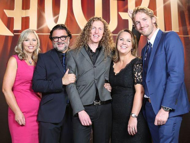 Gareth Midgley with Lizzy Ryley, David Nobay, Carolyn Creswell and Darren Robertson.