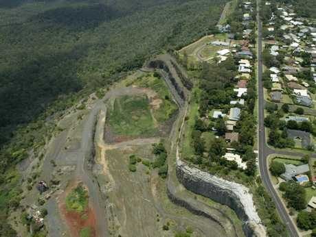 Aerial shots of the Toowoomba escarpment, which is partially owned by the State Government.