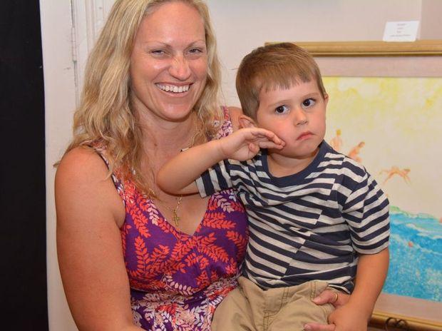 Shona Muckert, from Murgon, with son Quinn.