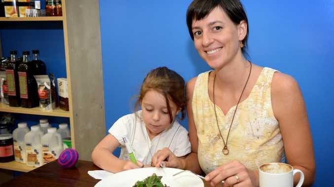 Hayley Clarke with her daughter Milla Clarke-Malfitani, 5, at the Blue Truffle Cafe. Photo Allan Reinikka / The Morning Bulletin