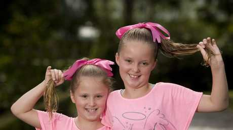 Sisters Sienna-Rose and Charlize Bartz are cutting off their ponytails to raise money for the Look Good Feel Better charity for women undergoing cancer treatment.