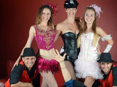 STANDING OVATIONS: Nina Jeftic (centre at back) is bringing Everything Burlesque to Lismore City Hall.
