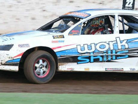 HOLDEN ON: The Commodore of Jason Jolley, one of the contenders for the Modified Sedan NSW Nationals at Lismore Speedway on Saturday night.