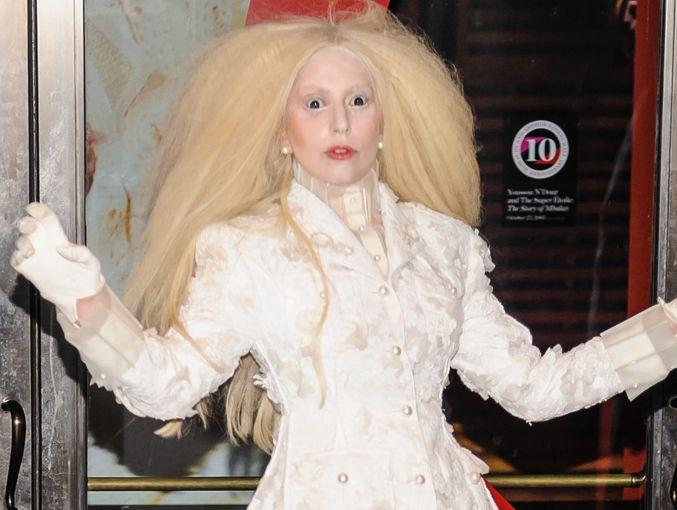 Lady Gaga at the Glamour awards.