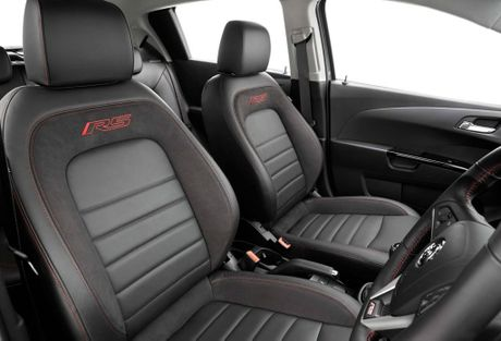 Inside the new Holden Barina RS.
