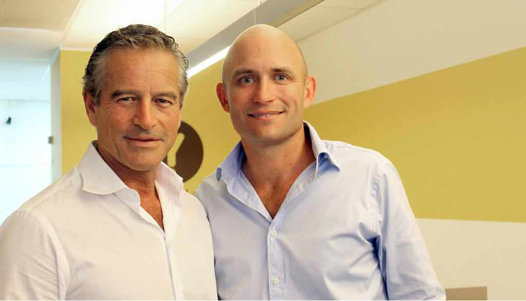 BRANCHING OUT: Yellow Brick Road Wealth Management chief executive Mark Bouris with Ballina branch director Campbell Korff.