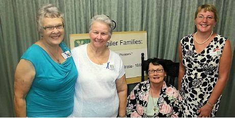 Bev Shailer, Chris Shailer, Lynette Shailer and Deb Farrar (nee Shailer) helped produce the book, 'Shailer Families: the Daring Pioneers'