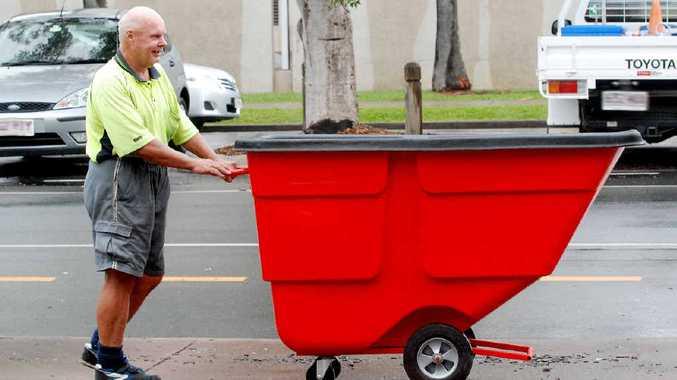 Robert Harper with his red bin.