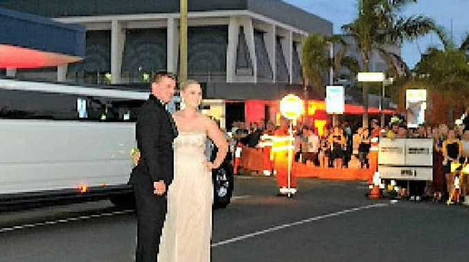 Banned student Jaimi-Lee Langerak arrives at the formal.
