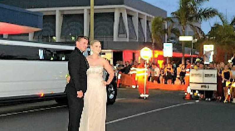 Banned student Jaimi-Lee Langerak arrives at the formal.