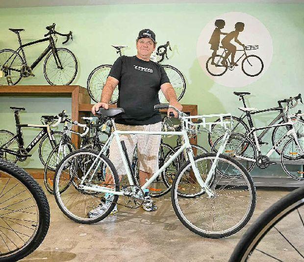 NEW FIELD: Elite cycling coach Warren McDonald has opened a bike store in Cotton Tree.