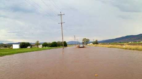 Flooding in the Tenthill region.