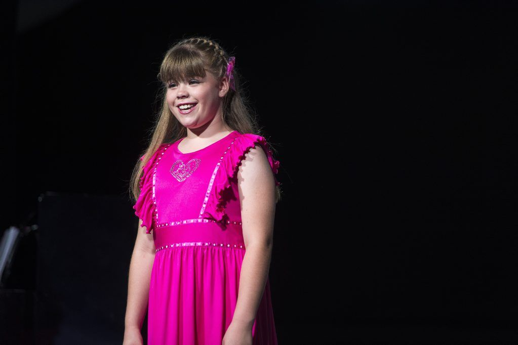 Ismari Van Der Westhuizen performing her sacred solo in the 10 years and under category at the 2013 Gladstone City Eisteddfod, at the Gladstone Entertainment Centre Marina Marquee.