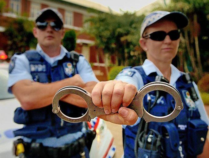 Constables Michele Sullivan and Bernard Elmore of the district response team.