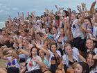 Mountain Creek State High School year 12 students celebrate the end of school. Photo: John McCutcheon / Sunshine Coast Daily