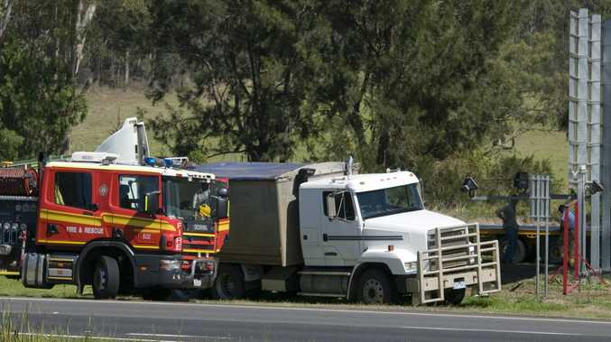 The prime mover involved in the crash on the Toowoomba Range.