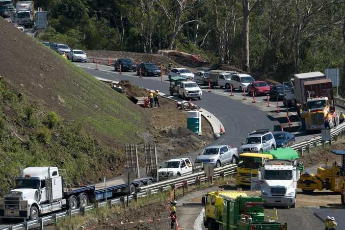 Heavy congestion on the Toowoomba Range.