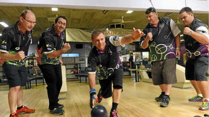 CONFIDENT: Grafton ten-pin bowlers Mark Lowe, Ashley Clark, Rod Lloyd, Matt Wormald and Matt Beetson are off to the state finals.Photo: Adam Hourigan