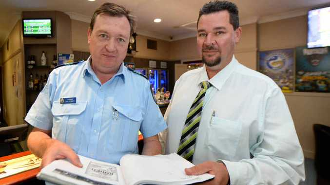 DRINK RESPONSIBLY: Sgt Paul Bennett, of the Capricornia Liquor Enforcement and Pro-active Strategies Unit, and Damian Bolton, president of the Rockhampton Liquor Accord.