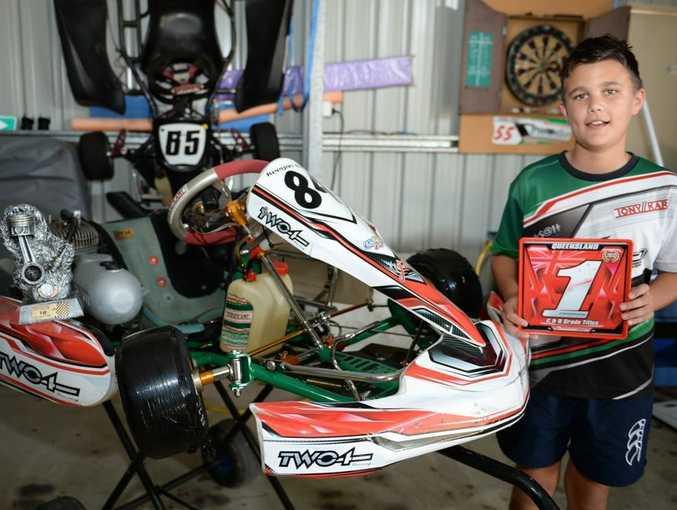 Kart driver Keegan Baker. Photo Allan Reinikka / The Morning Bulletin