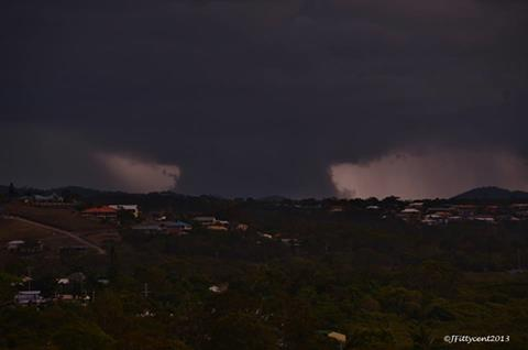 John Fitzgerald took this image of the storm front from Wreck Point Cooee Bay looking west. November 14, 2013.