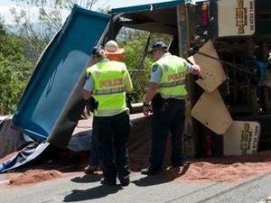 Truck rollover closes range