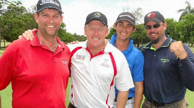 Mackay's Steve Kelly, Darren Symons, Casey Warren and Neil Breuer are ready for the Holden Scramble.