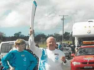 Torch relay handovers were 44 years apart