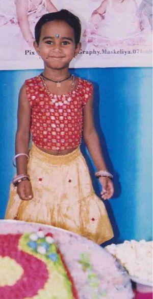 Eldest daughter Tharaka on her third birthday. Devan's dream is to bring his daughters to Australia.