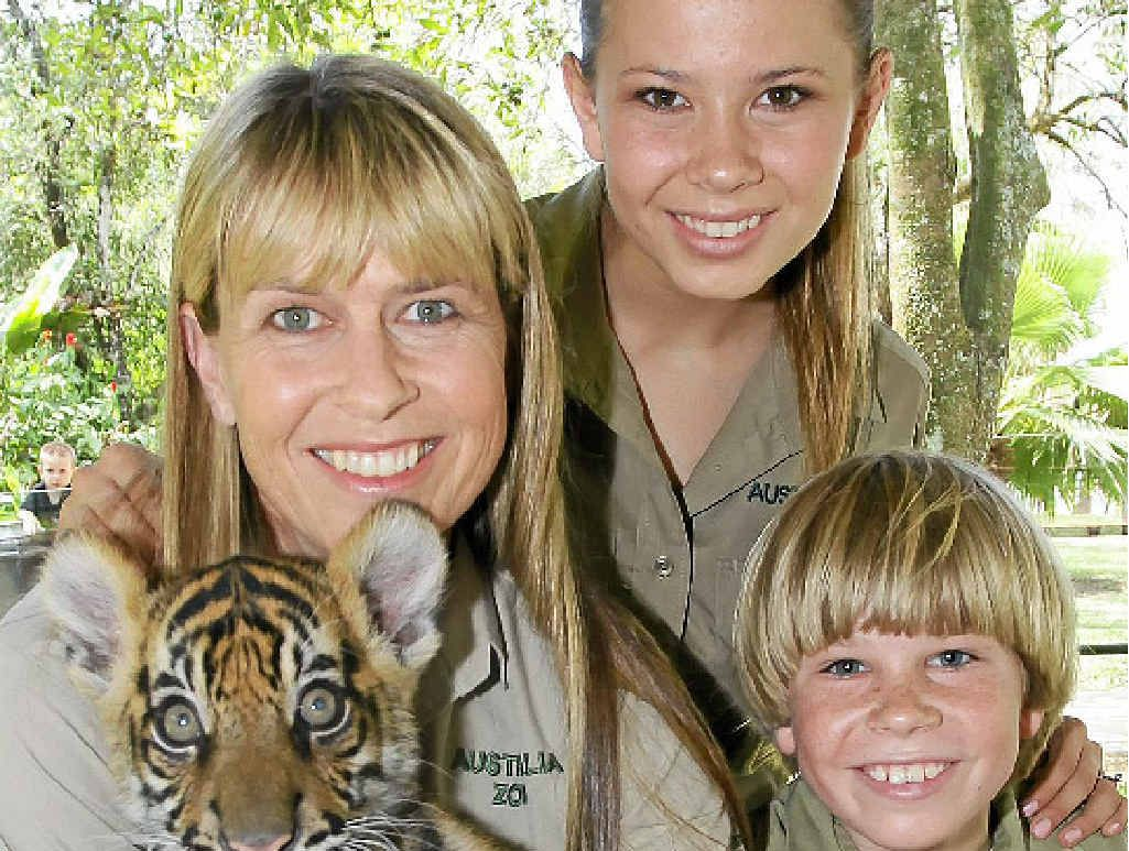 SO BLESSED: Despite the loss of their husband/father Steve Irwin, Terri, Bindi and Robert love every day of their lives at the zoo.