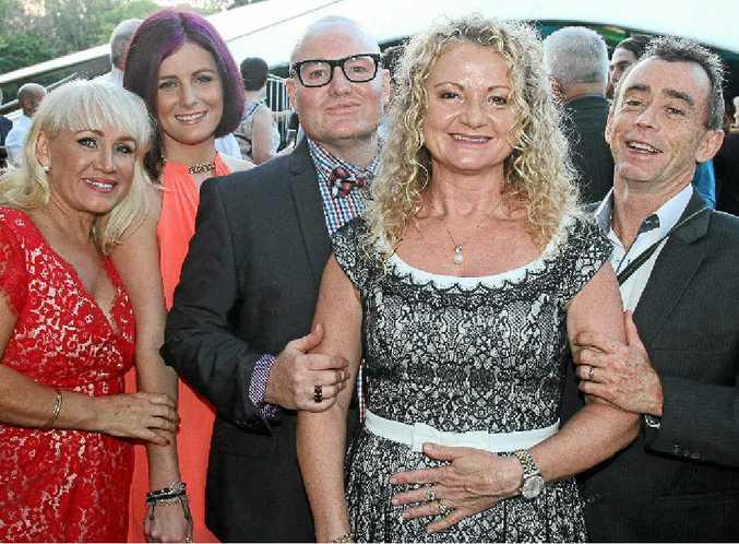 ABOVE: Lisa Ricks, Tiahne Hayden, Raymond Laird, Cathie Kenafake and John Kenafake.