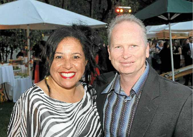Maria Woods and Paul Klegg enjoy the Sunshine Coast Business Awards at Palmer Coolum Resort.