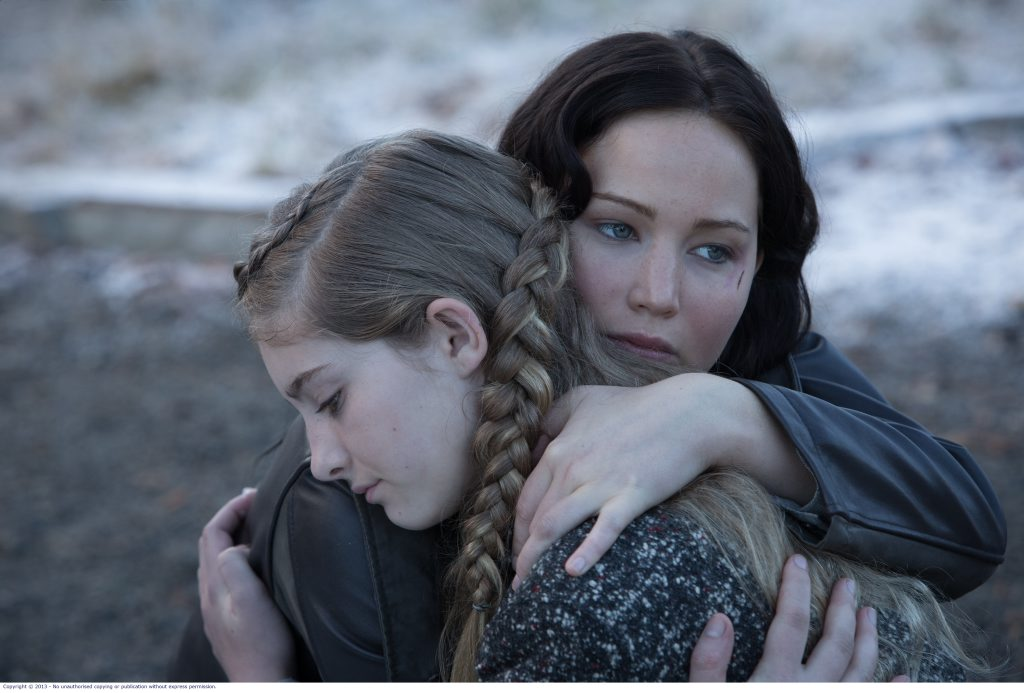 FOR REVIEW AND PREVIEW PURPOSES ONLY. Jennifer Lawrence, left, and Willow Shields in a scene from the movie The Hunger Games: Catching Fire. Supplied by Roadshow Films media website.