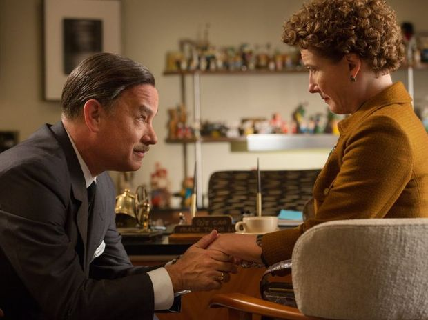 Tom Hanks and Emma Thompson in Disney's Saving Mr Banks.