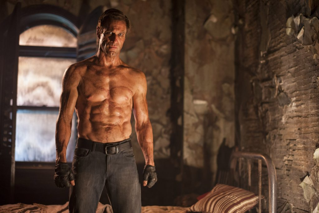 FOR REVIEW AND PREVIEW PURPOSES ONLY. Aaron Eckhart in a scene from the movie I, Frankenstein. Supplied by Hopscotch Films publicity. Please credit photo to Ben King.