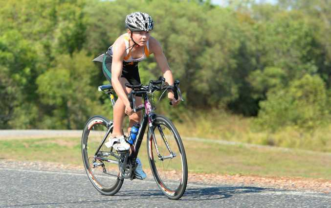Competitor 236 in the triathlon held at the Capricorn Resort on Sunday morning. Photo: Chris Ison / The Morning Bulletin