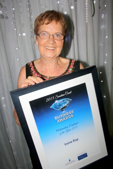 Irene Kay, practice manager at Dental Solutions, Outstanding Employee of the Year at the 2013 Sunshine Coast Business Awards, Palmer Resort Yaroomba Photo: Erle Levey / Sunshine Coast Daily