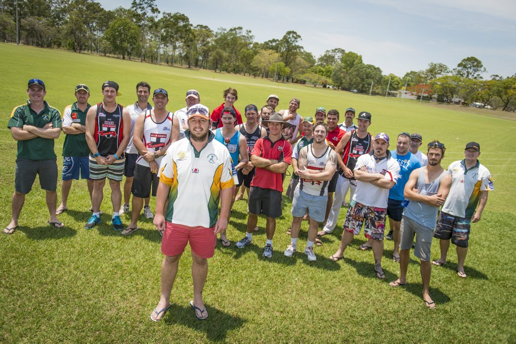 All of the players from BITS cricket and AFL who are out having fun to assist Tim and Kristy Threadgold.