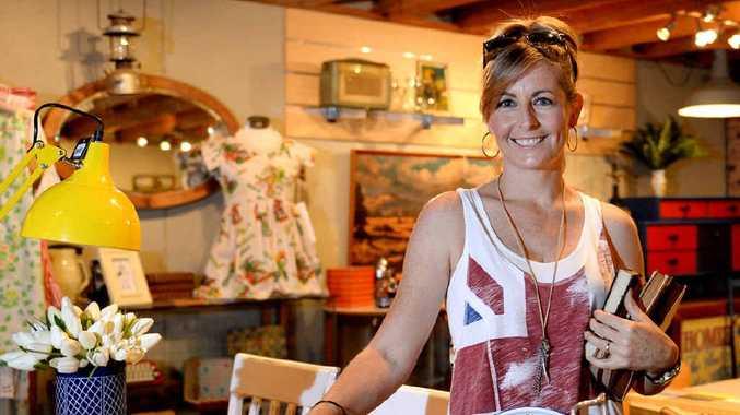 VINTAGE CHIC: Nicole Gillespie at The Little Cat Next Door.